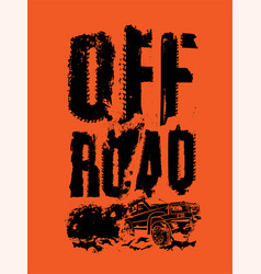 Off-road dust lettering 2-02 vector