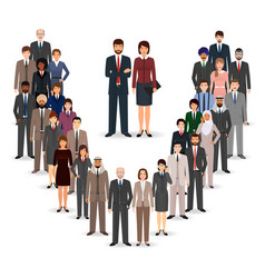 office employee team standing together group of vector image