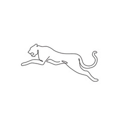 one continuous line drawing dangerous jumping vector image