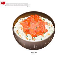 Ota Ika or Tongan Raw Fish in Fresh Coconut Milk vector