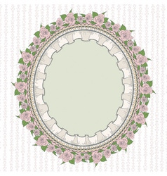 Oval frame in the provence style vector