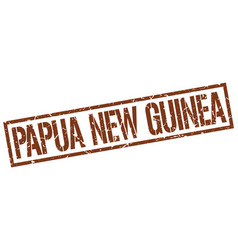 Papua new guinea brown square stamp vector