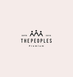 people family together human unity logo icon vector image