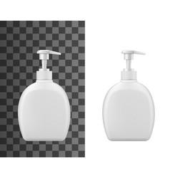 plastic dispenser with pump liquid soap package vector image