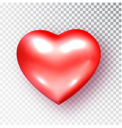 red heart isolated realistic heart vector image
