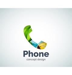 Retro phone logo template vector