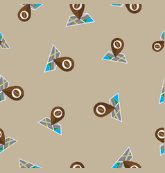 Seamless pattern with coffee map pin vector