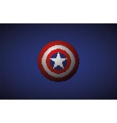 shield with a star superhero comics vector image