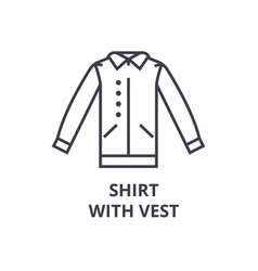 Shirt with vest line icon outline sign linear vector