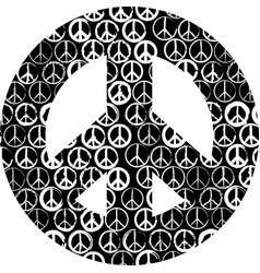 Sign peace vector