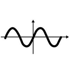 sinewave vector image