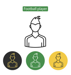 soccer player avatar icon vector image