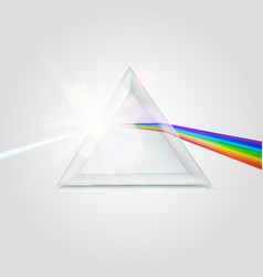 Spectrum prism picture vector