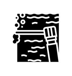 Spot welding glyph icon vector
