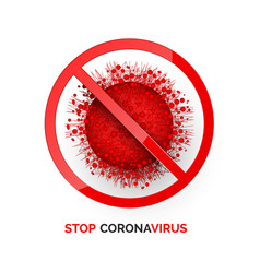 stop corona virus infection medicine warning vector image