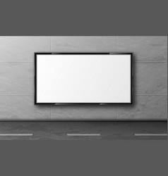Street billboard for ad display mockup on wall vector