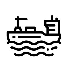 Tanker at sea icon outline vector