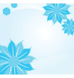 Tender background with blue abstract flower vector image
