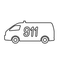 The car rescue service vector