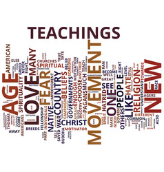 The new age movement text background word cloud vector