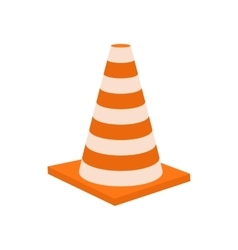 Traffic cone icon cartoon styl vector image