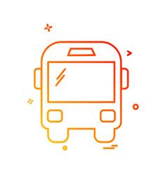 transport icon design vector image