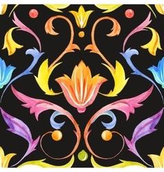 vintage baroque victorian retro pattern vector image