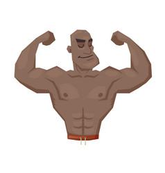 Vintage strongman retro bodybuilder strong power vector