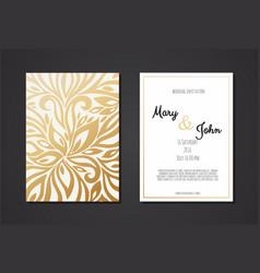vintage wedding invitation templates cover design vector image