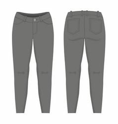 Womens black jeans vector