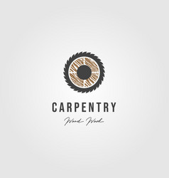 wood grinding carpentry logo icon vector image