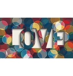 Abstract romantic love vector image