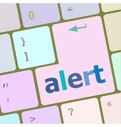alert button on the keyboard key vector image vector image