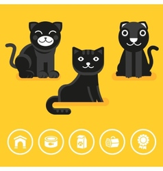 cat icon in flat style vector image vector image