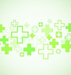Green medical design vector image vector image