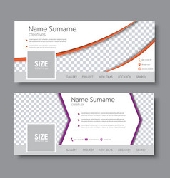 Template banners with the arrow and a semicircle vector