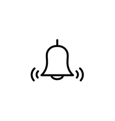 thin line bell icon vector image vector image