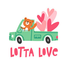 a lot of love vector image vector image