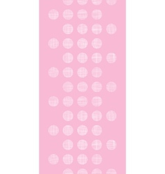 Abstract pink textile dots vertical seamless vector image vector image