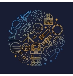Astronomy or space vector image