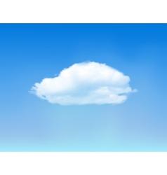 Cloud on blue sky vector image