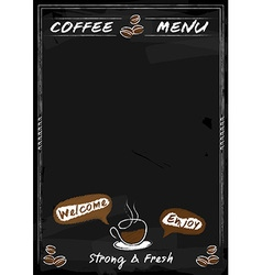 Coffee menu chalkboard style with copyspace vector image