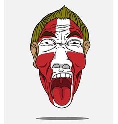 football fan from Denmark vector image