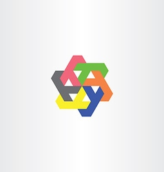 Letter y circle rotation geometry tech logo icon vector