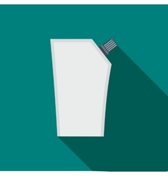 Plastic pouch with batcher flat icon vector image vector image