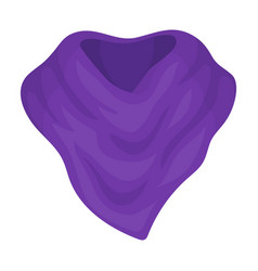 purple arafatka for cowboyscarves and shawls vector image