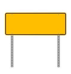 Blank Warning Sign vector image vector image