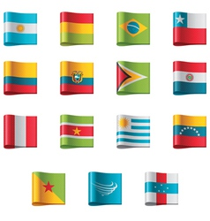 flags - south america vector image