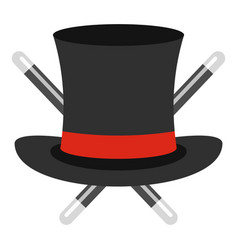 hat with a stick icon cartoon style vector image
