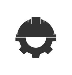 Helmet with gear vector